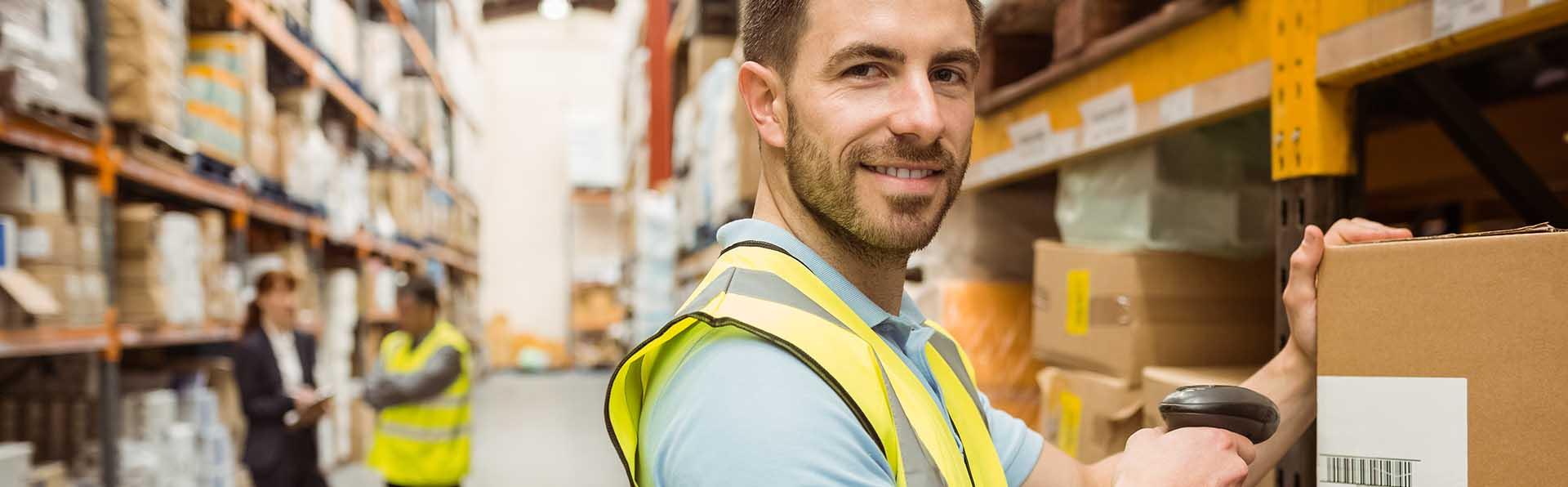 Lagerarbeiter Scannerlösung SAP Business One