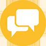 Icon Sprechblase ERP Implementierung