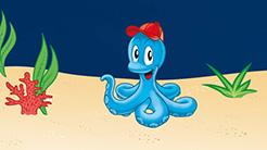 Tinti Kraken mit Mütze