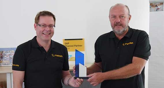 Michael Weidmann and Markus Rohrbach with SAP Award